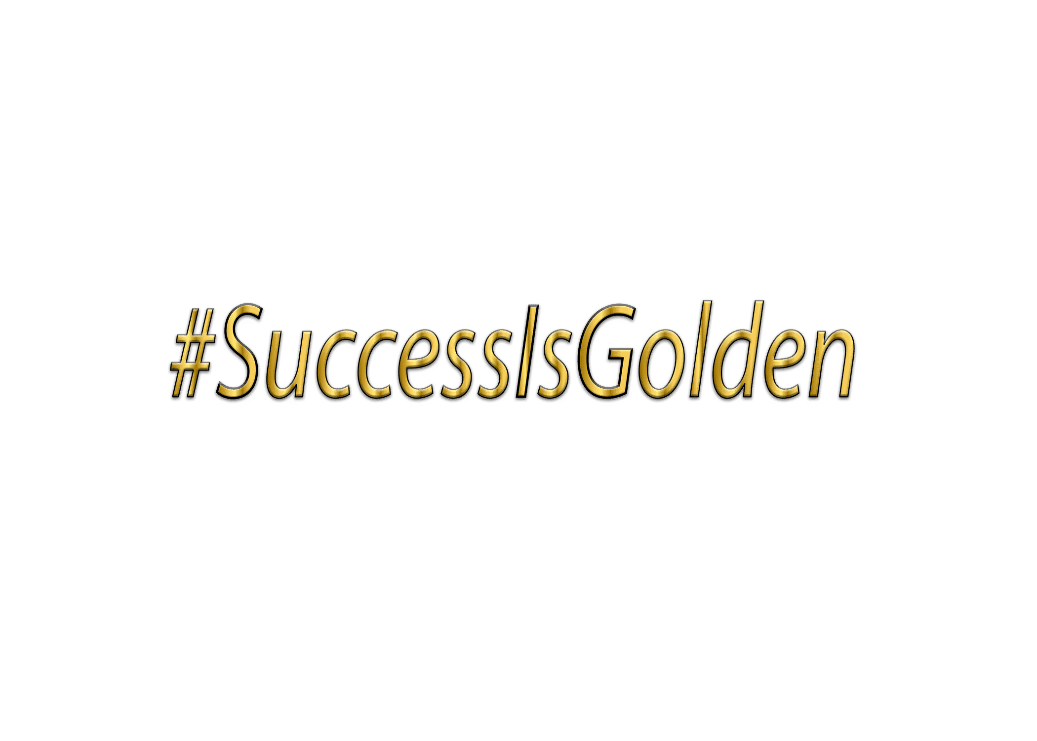 SUCCESS IS GOLDEN- EMBOSS